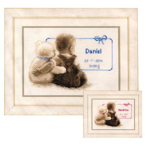 0021672-PN Набор для вышивания Vervaco 'Мой любимый плюшевый мишка' 26x18см
