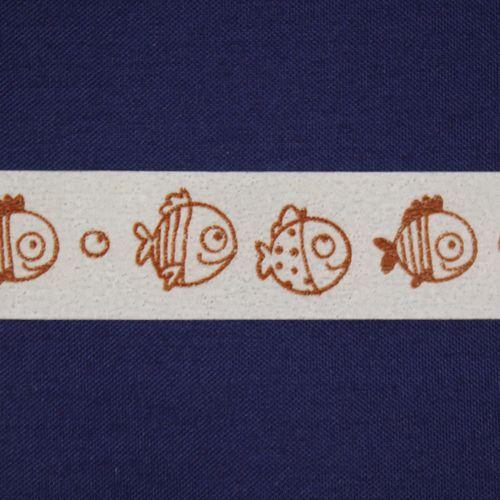 SCB4905011 Бумажный скотч с принтом 'Рыбки-2', Basik&Co, 15 мм*8 м, ScrapBerry's