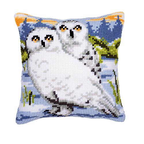 0008742-PN Подушка Vervaco 'снежные совы' 40x40см