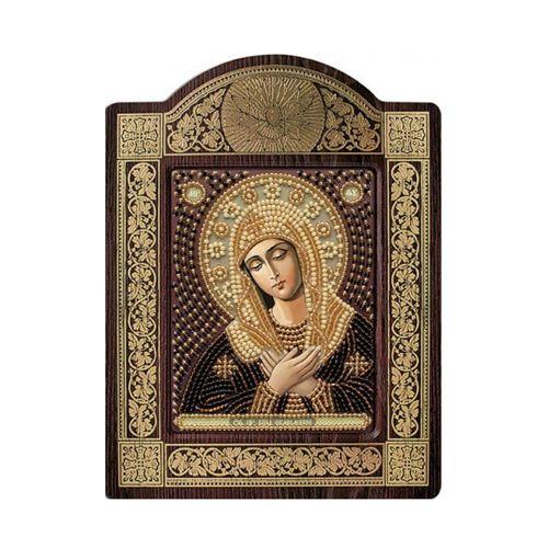 СН8022 Набор для вышивания бисером 'Нова Слобода' 'Богородица 'Умиление', 9x11 см