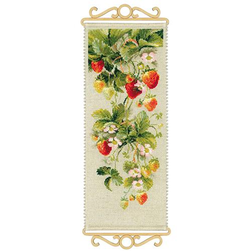 1551 Набор для вышивания Riolis 'Клубника', 19*48 см