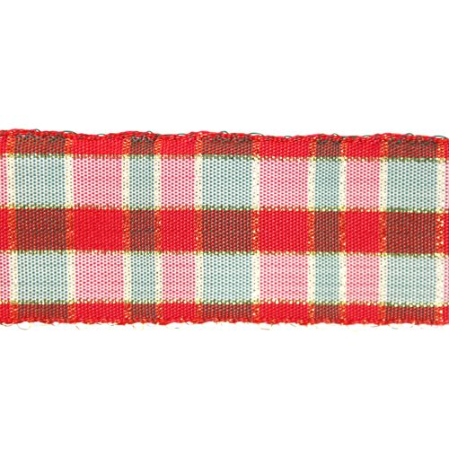 С3301Г17 Лента 'Шотландка' с люрексом 30*25м