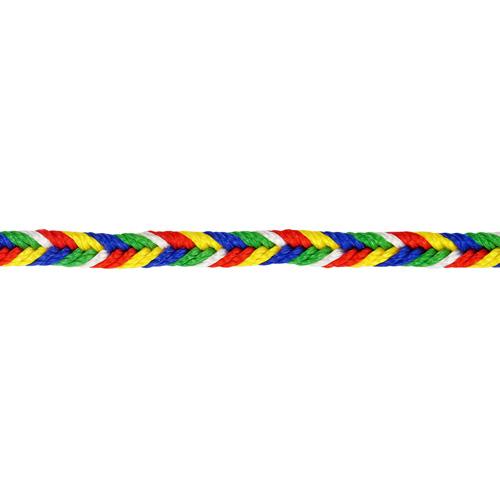 1AS-193 Шнур декоративный 'косичка' 3мм*50м, мультиколор