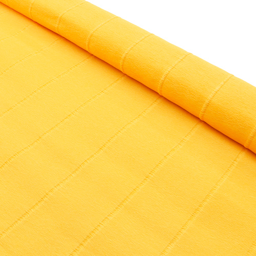 64564 Бумага гофрированная простая, 50см*2,5м 140гр 976 светло-оранжевая