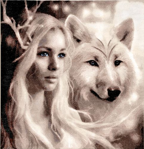 715 Набор для вышивания Hobby&Pro 'Волчицы', 39*41 см
