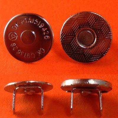 ГДЖ13714 Кнопка магнитная 14мм, никель
