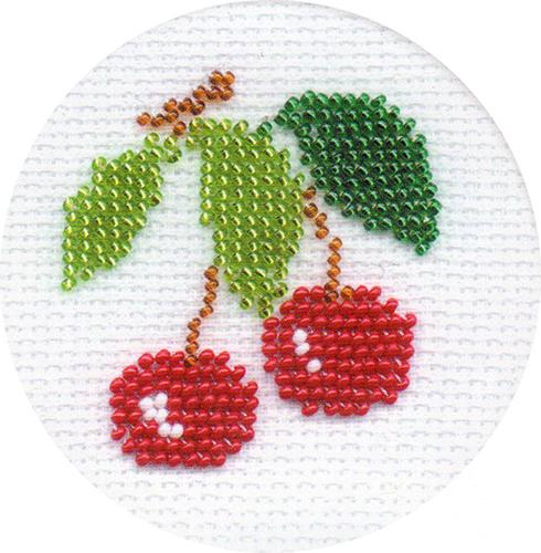 Б071 Набор для вышивания бисером Riolis 'Вишенки', 8*8 см