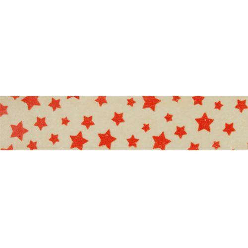 SCB4905005 Бумажный скотч с принтом 'Звёзды', Vintage Circus, 15 мм*8 м, ScrapBerry's