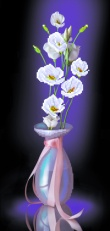 4094 Рисунок на шелке Матренин посад 'Лунный свет' 22*45см (24*47см)