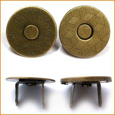 ГДЖ13721 Кнопка магнитная 18мм, бронза