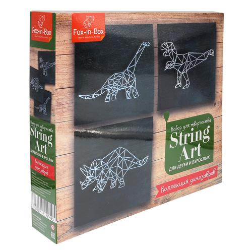 FB606312 Набор для творчества Стринг Арт 'Коллекция динозавров'