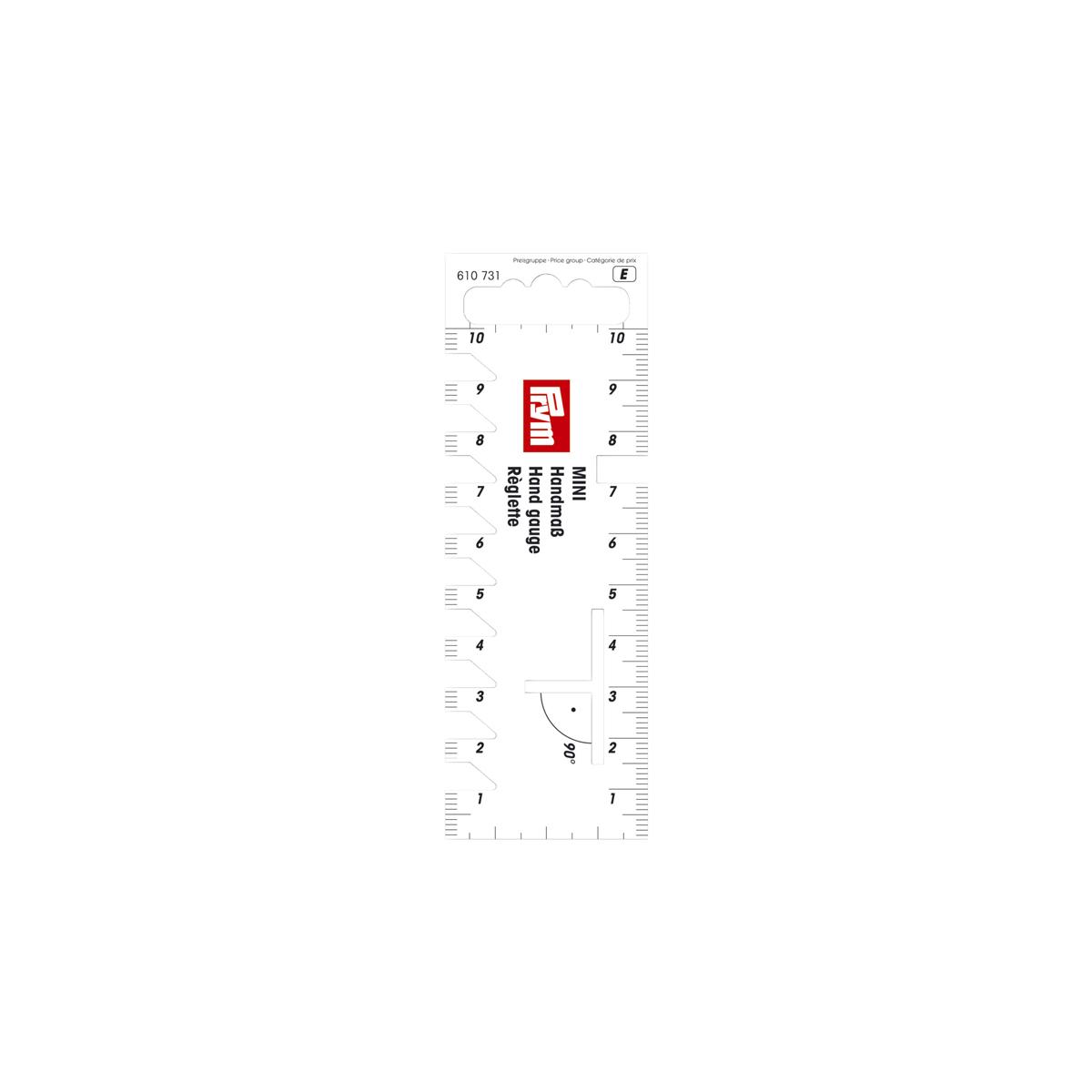 610731 Шаблон мини-линейка для разметки и измерения Prym