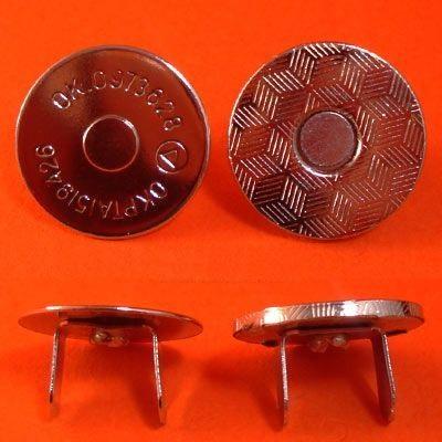 ГДЖ13721 Кнопка магнитная 18мм, никель