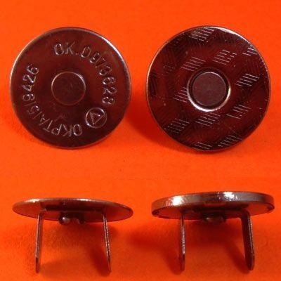 ГДЖ13721 Кнопка магнитная 18мм, черн. никель
