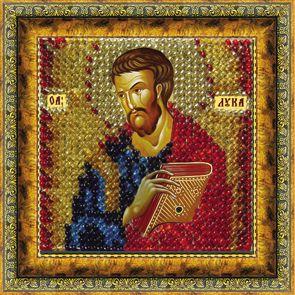 132ПМИ Набор для вышивания бисером 'Вышивальная мозаика' Икона 'Св.Апостол и Евангелист Лука', 6,5*6,5 см