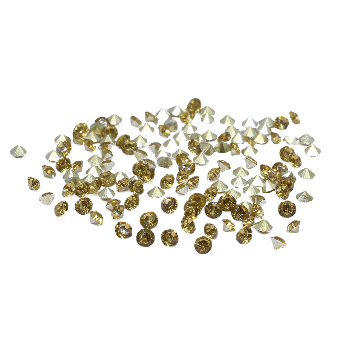 Стразы конусовидные риволи 2,5мм, ss8, 144шт/упак