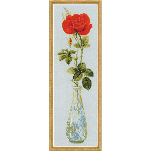 1375 Набор для вышивания Riolis 'Королева цветов', 15*50 см