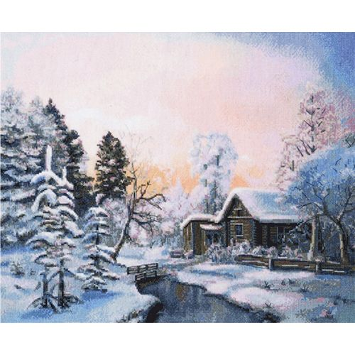953 Набор для вышивания Hobby&Pro 'Красавица зима' 37*32см
