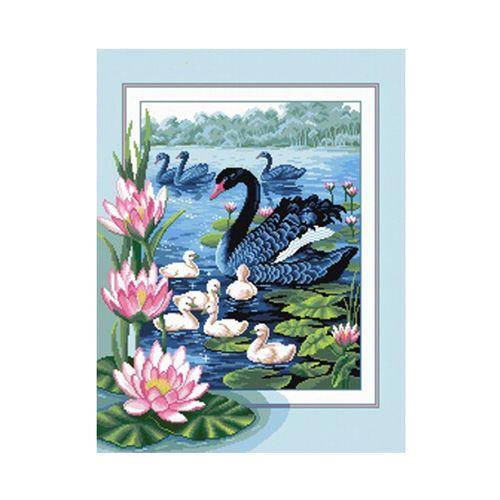 А-0047 Набор для вышивания Nitex 'Черные лебеди', 38х50 см