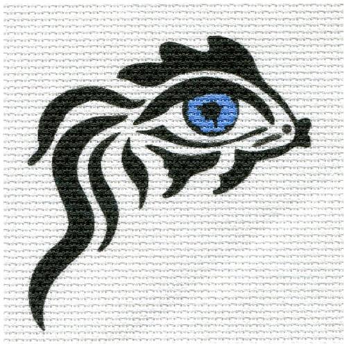А-04 Канва с рисунком 'Глаз-рыба' 15х16см