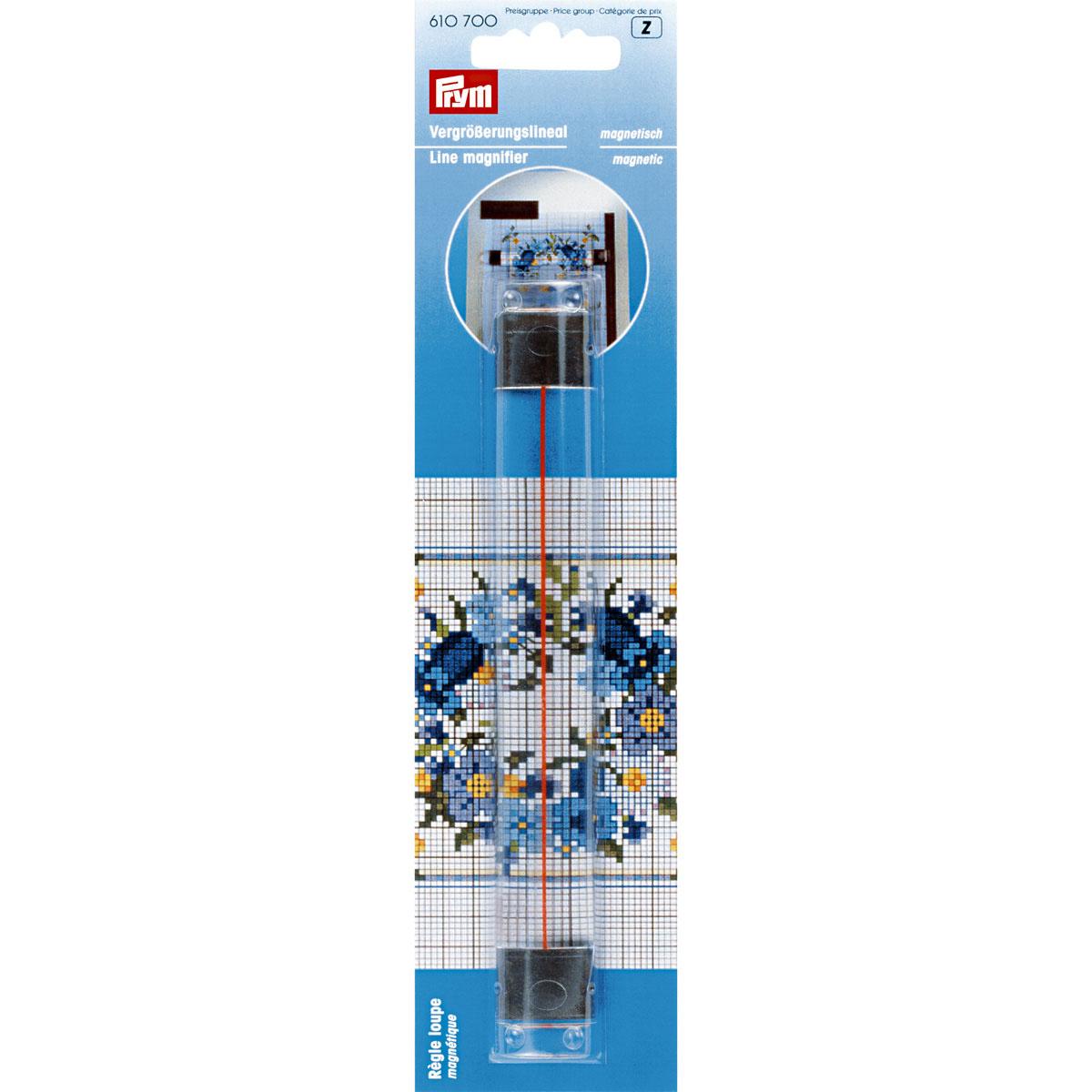 610700 Линейка увеличительная магнитная, 16,5х2,2 см, Prym