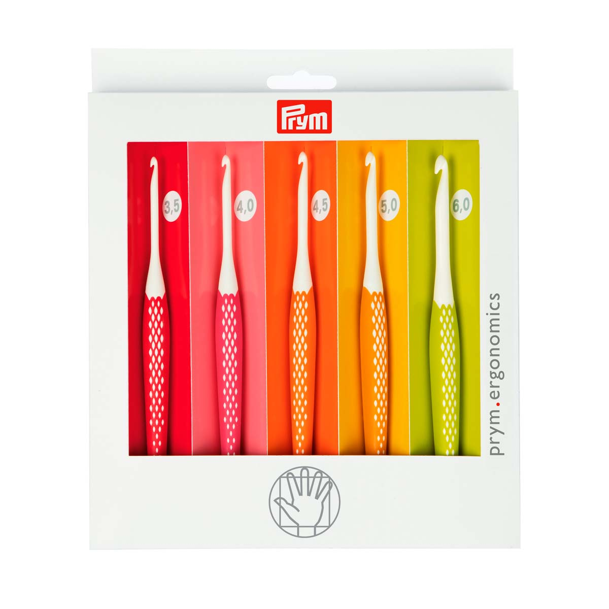 218440 Набор крючков для вязания Ergonomics, 3.5-6.0 мм, Prym