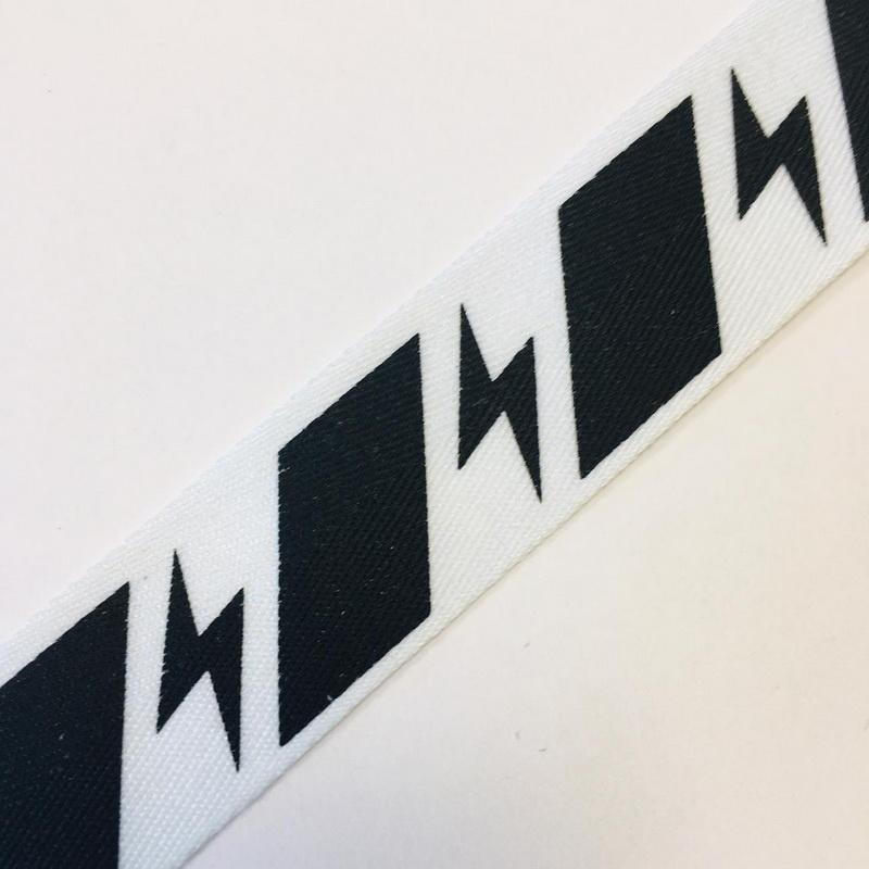 Тесьма декор. черно/белая с молнией 2,5см уп*10м, 2135001357407