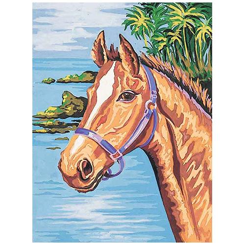 10322-CDA Канва с рисунком Collection D'Art 'Конь' 40*50 см