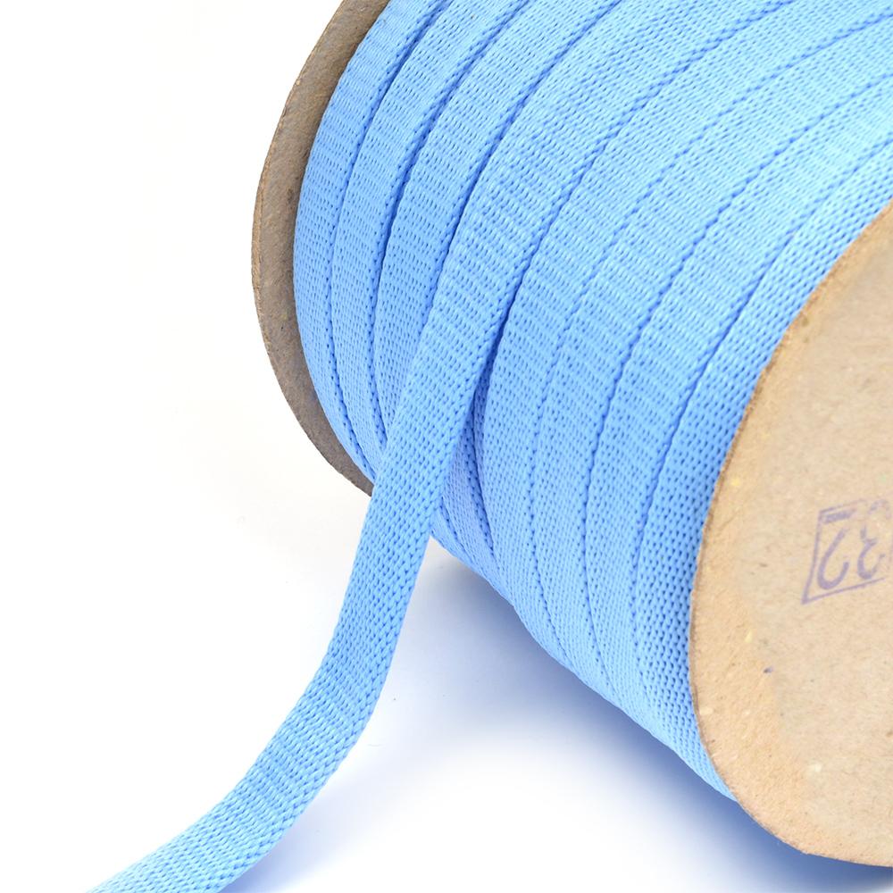 Шнур плоский полиэфир 12-15мм арт. 06с2341 цв.01 голубой уп.50м, ШНУР06с2341ГОЛ