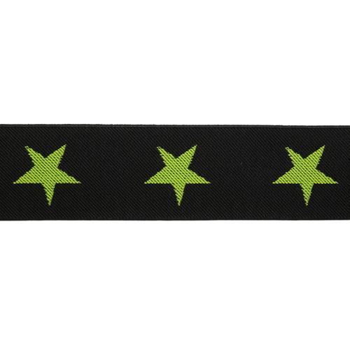 1AS-226 Лента эластичная декоративная 'Звезды' 5 см*5м