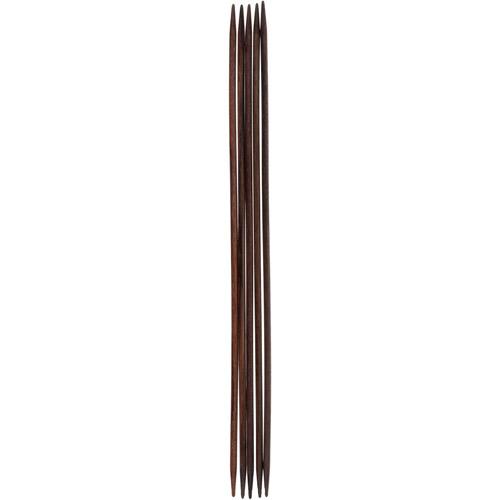 36806-02 Спицы чулочные 3,00 мм/ 20 см, розовое дерево, 5 шт PONY