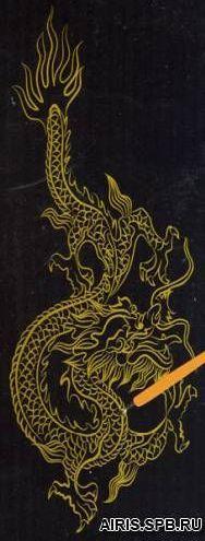 Гравюра 8506J - дракон