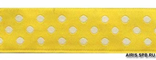 05-75003/20 Тесьма жаккард. желт 'горох'