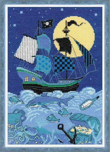 1511 Набор для вышивания 21*30см 'Риолис' 'Пиратский корабль'
