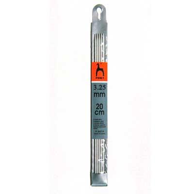 36217 Спицы чулочные 3,25 мм/ 20 см, алюминий, 5 шт PONY