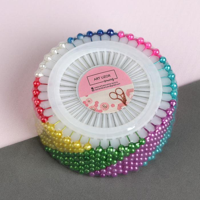 600389 Булавки на круге, d = 8 см, 38 мм, 40 игл, цвет МИКС