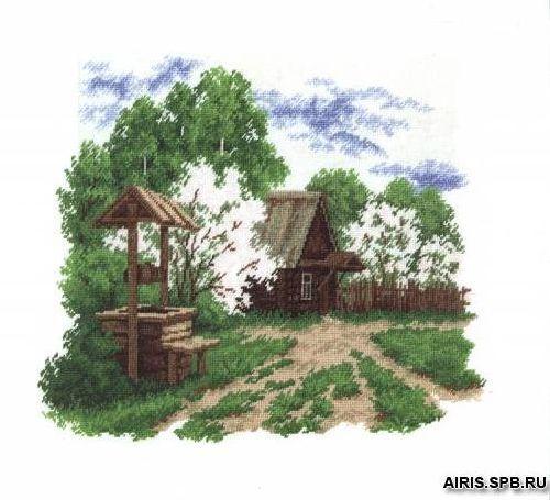 483 Набор для вышивания РC-Студия 'Деревенский пейзаж' 27*37 см