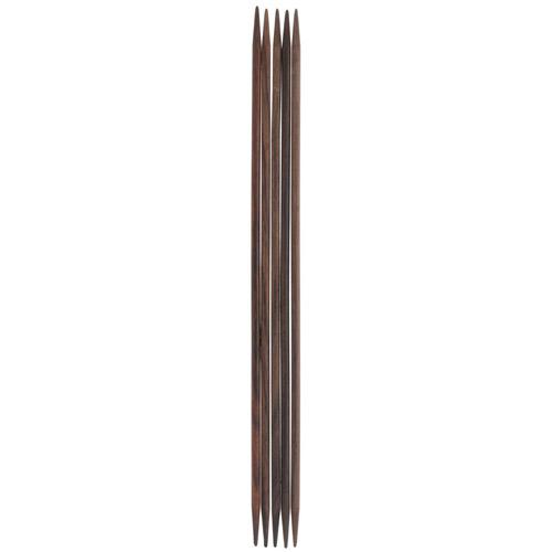 36907-02 Спицы чулочные 3,50 мм/ 15 см, розовое дерево, 5 шт PONY