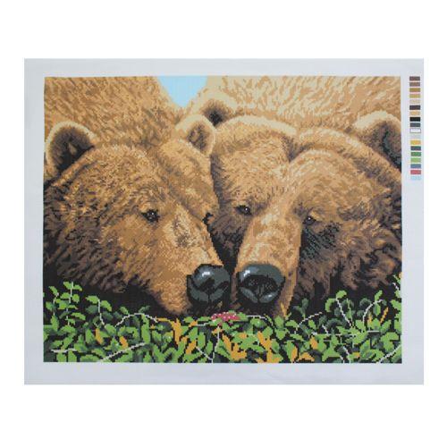 Ф-067 Канва с рисунком 'Гелиос' 'Медведи', 40х49 см