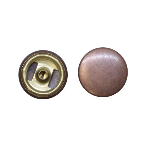 1666 Кнопка 5/15 01 BRASS т.медь