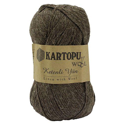 Пряжа KARTOPU 'KETENLI YUN' 100гр. 200м (70% акрил, 20% шерсть, 10% лен)