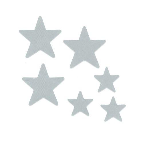 Набор светоотражающих наклеек на одежду 'Звезды'