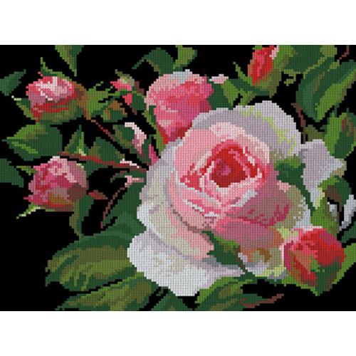 0002 Набор для вышивания Nitex 'Роза', 30*22,5 см