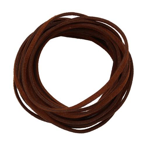 25383 Шнур темно-коричневый из искусственной замши 3*1,5мм-3м