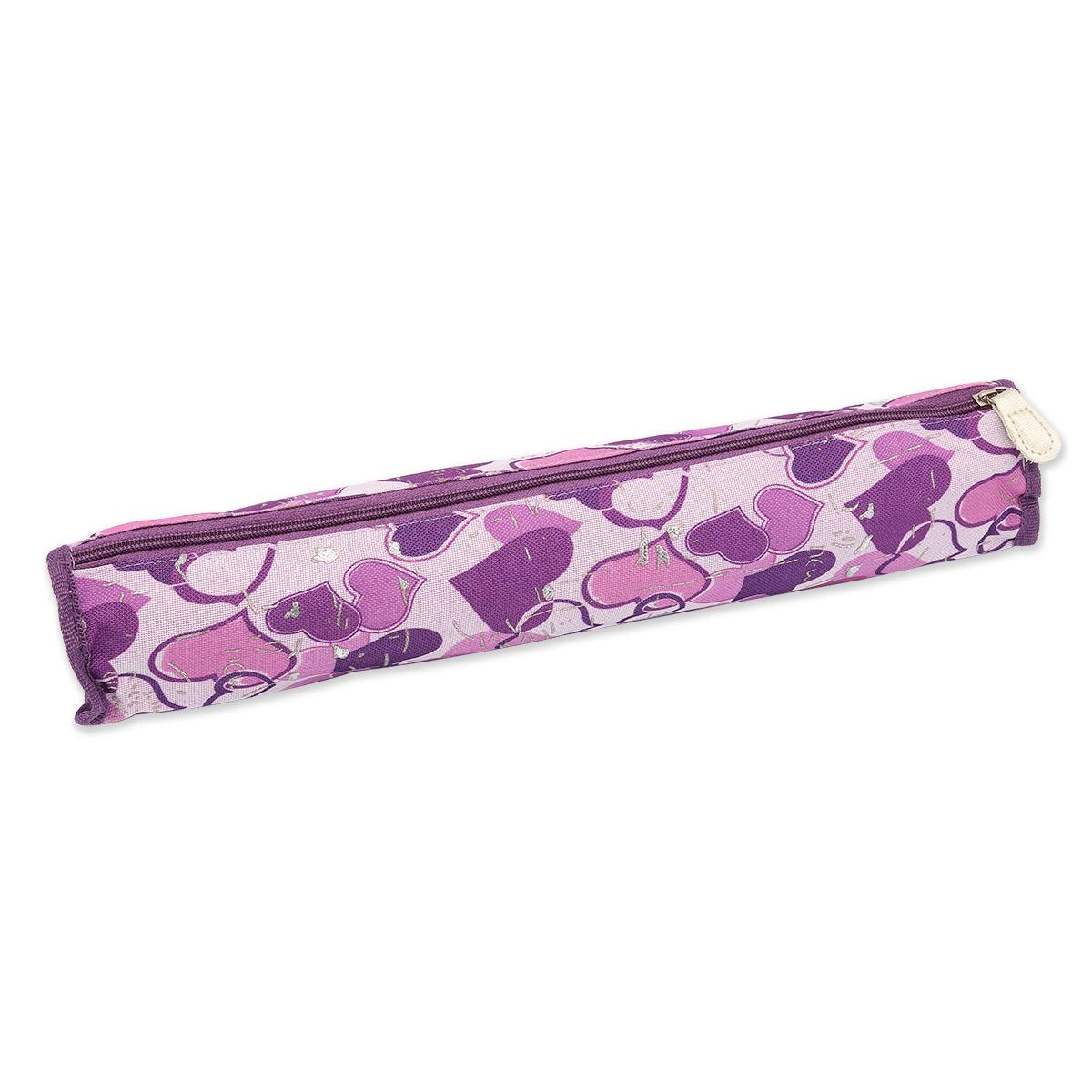890501 Футляр для хранения вязальных принадлежностей, лиловый, 40*6 см, Hobby&Pro