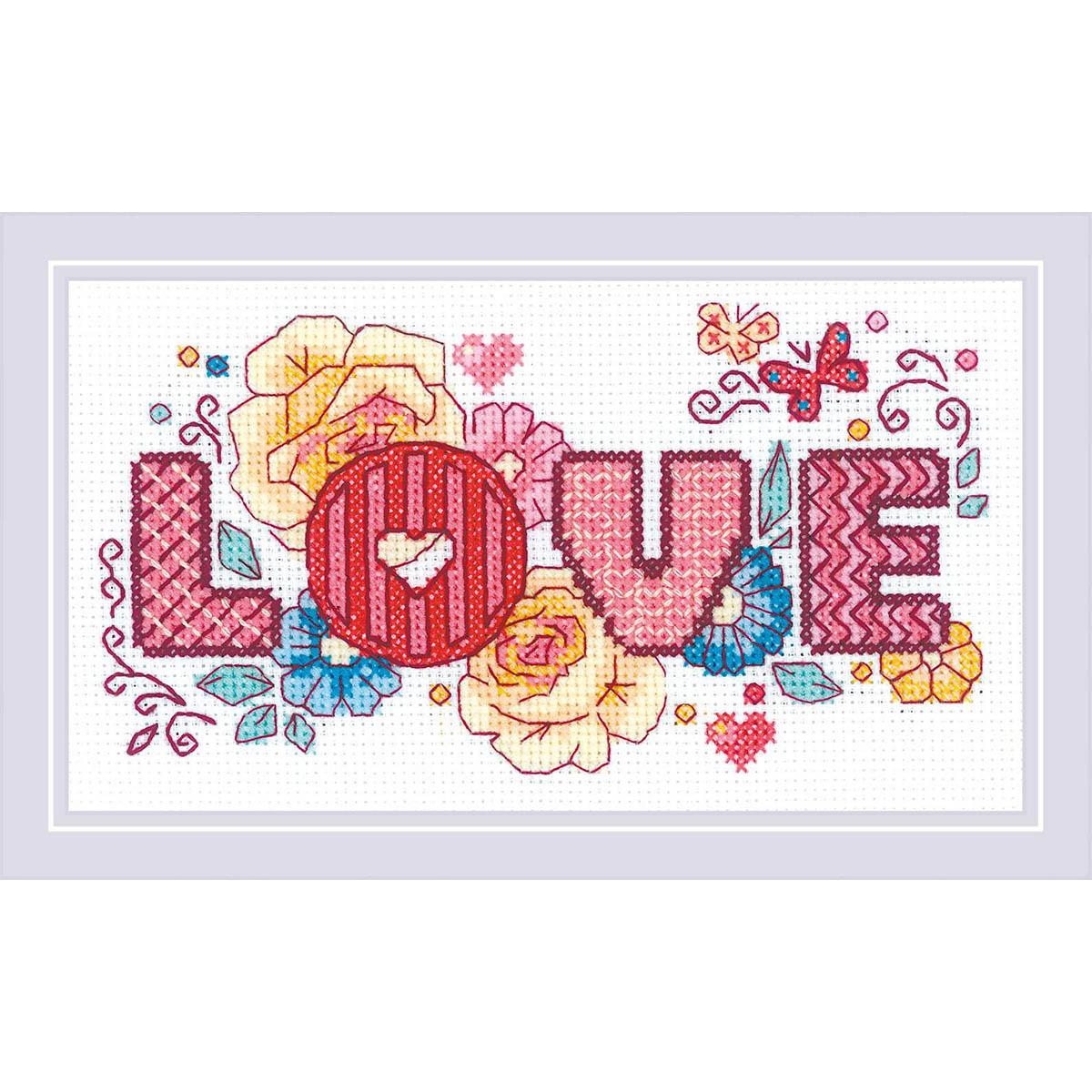 1853 Набор для вышивания Риолис 'Love'18*10см