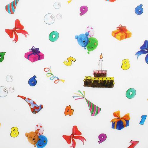 80101 Транспарентная бумага 'День рождения', 115 г/м², 50,5*70 см, Folia