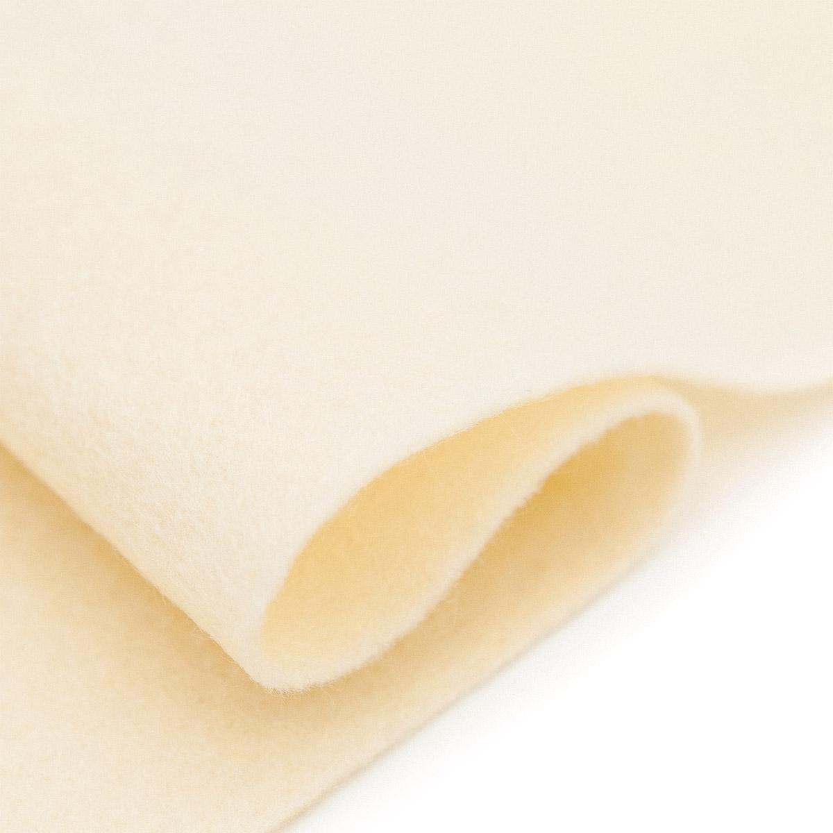 61212612 Фетр для творчества, кремовый, 2мм, 20x30см, уп./1шт. Glorex