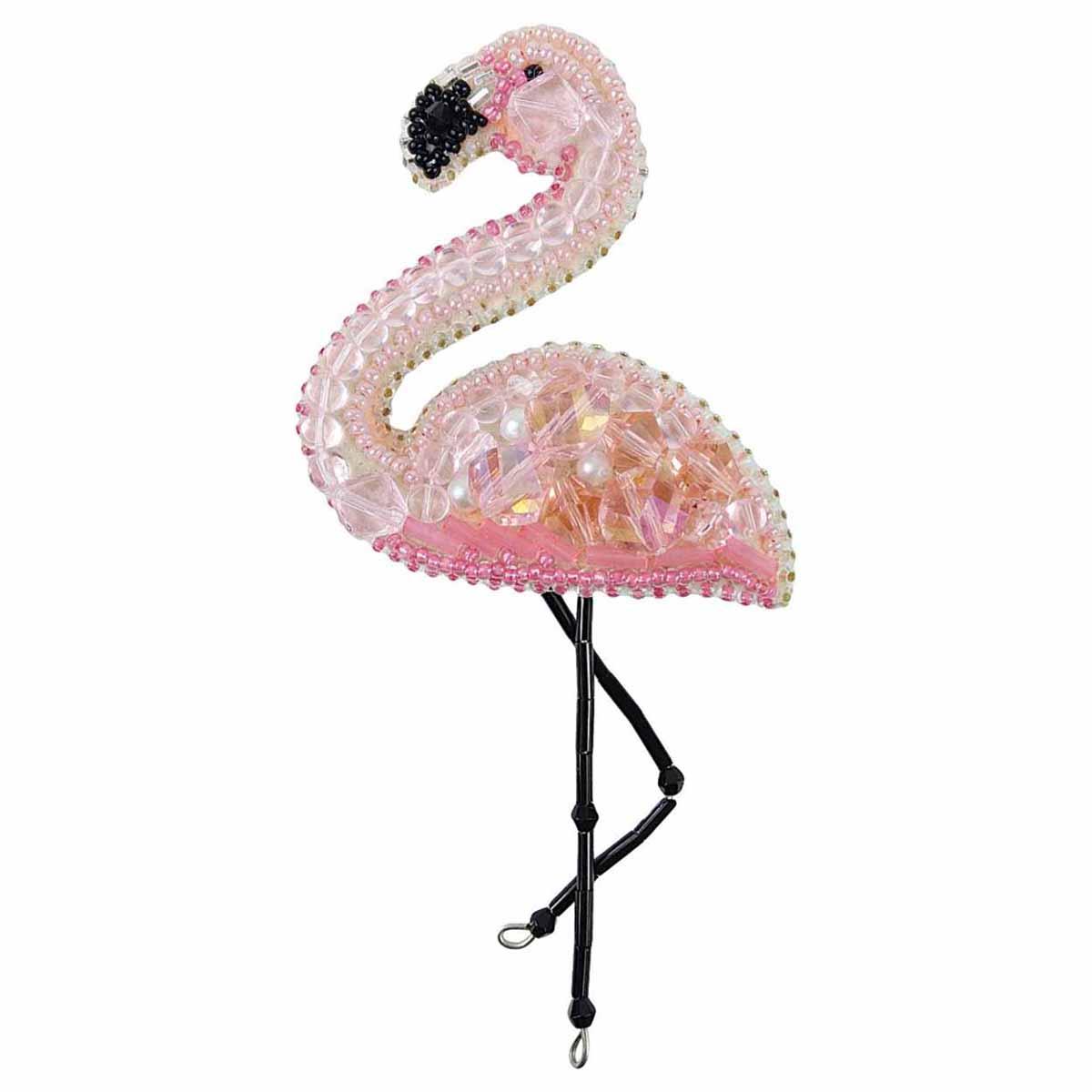 БП216 Набор для изготовления броши 'Фламинго' 6,0*12,0см