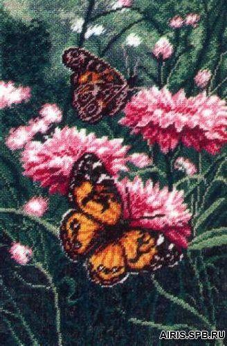 636 Набор для вышивания Hobby&Pro 'Бабочки', 28*19 см